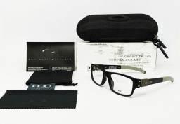 Armação de Óculos para Grau Oakley Muffler Preto com Cinza