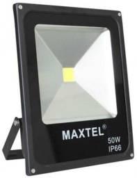 Refletor Led 50w Maxtel Branco Frio