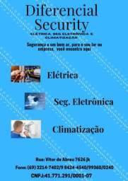 Serviço de segurança eletrônica, climatização e elétrica