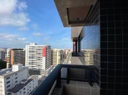 Apartamento na Ponta Verde, quarto e sala com varanda