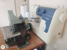 Máquina de costura Overloque + reta