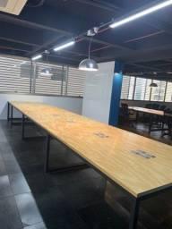 Mesa de escritório madeira industrial