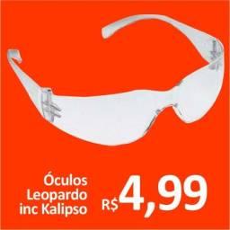 Óculos proteção incolor Leopardo Kalipso - Promoção= R$ 4,99