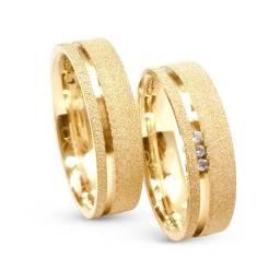 Oferta imperdivel Alianças Banhadas a ouro 18k com garantia