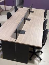 Conjunto mesa 6 lugares com cadeiras - pouco uso