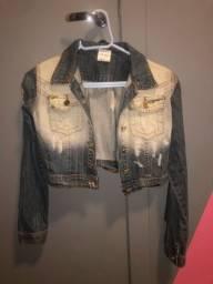 Jaqueta jeans feminina infantil