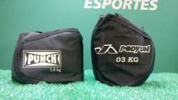 Kit Tornozeleira 2kg e 3kg - Caneleira de Peso