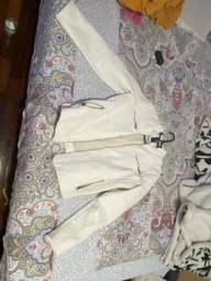 Jaqueta de couro branco