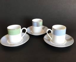 Jogo Xícaras Café Porcelana Schmidt 12 Peças