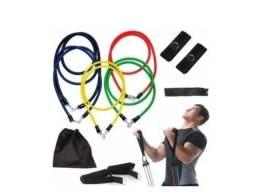Título do anúncio: Elástico kit Para Treino Exercícios Malhar Musculação