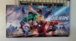 Painel decorado LEGO 2,00m x 1,00m