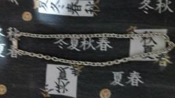 Cordão d prata modelo cadeado 65 centímetros