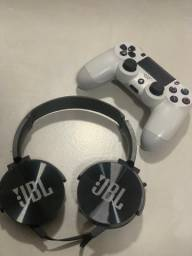 Controle PlayStation 4 + headset JBL