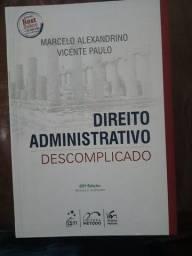 """Direito Administrativo Descomplicado"""" + Caderno - em ótimas condições"""