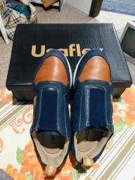 Sapato de couro ortopédico usaflex