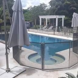 Tela Removível de proteção para piscina safety pool