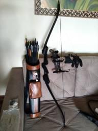 Kit arco e flecha iniciantes/intermediários Man kung/ Potência: 17 a 21 lbs