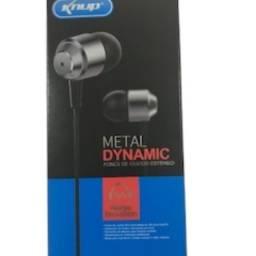 Fone Original Knup Metal Dynamic- KP467 -Estéreo-(Entrega Gratuita)