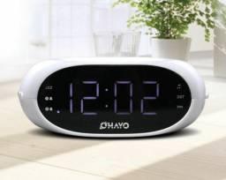 Radio Relógio Despertador Abajur
