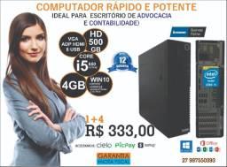 Super Lenovo i5 4GB HD500 W10 Office Wifi Grátis 12 Meses