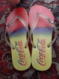 Chinelo da Coca- Cola