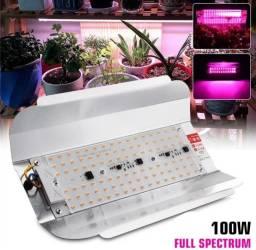 Painel Full Spectrum 100w LED Grow Cultivos Indoor - Plantas Floração/Vegetativo