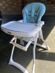 Cadeira Burigotto Azul Refeiçao Alimentação Merenda