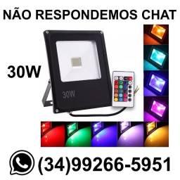 Entrega Grátis * Refletor Led RGB 30w Prova Dágua Colorido * Chame no Whats