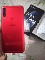 ZenFone maxshot 4/64gb, com caixa carregador e fone