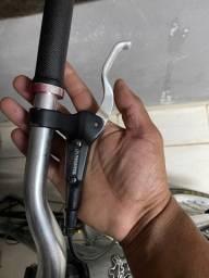 Freio hidráulico shimano com dianteiro pinça deore