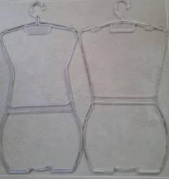 Cabide Acrílico Silhueta Collant Adulto Transparente