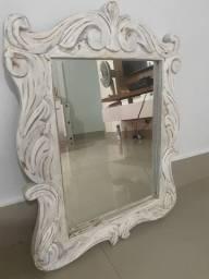 Espelho provençal arabesco em madeira maciça