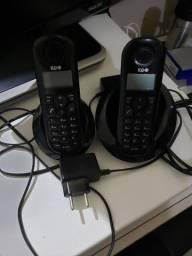 Telefone sem fio com identificafor de chamada e ramal(extensão)
