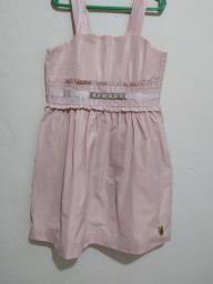 Vestido infantil usado uma vez 6/7 anos