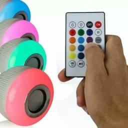 Lampada Musical Caixa De Som Bluetooth Led Rgb Com Controle<br><br><br>