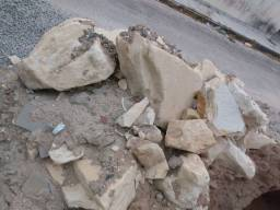 Pedra para construção.