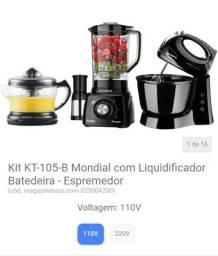 Kit KT-105-B Mondial com Liquidificador Batedeira - Espremedor<br><br>