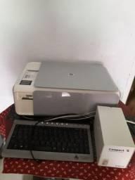 Impressora, teclado e estabilizador
