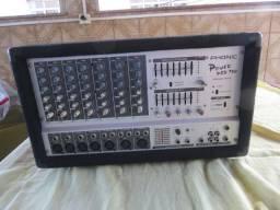 Mesa Amplificada 7 Canais 440 Watts Powerpod 740 Plus Phonic
