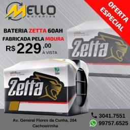 Bateria Zetta 60 Ah * Mais barata do OLX * Fabricação Moura