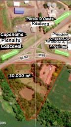 Vendo Área Comercial em Pérola D'Oeste, com 265 metros de frente para BR-163