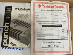 Potencia Rockford Fosgate Punch 400 a4 lacrada