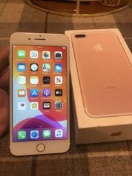Iphone 7 plus gold 32gb, caixa, cabo carregador, bateria 100%, sem marcas de uso, leia!