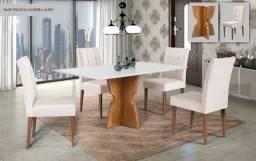 Sala de Jantar Completa com 4 cadeiras em até 10X no cartão de crédito