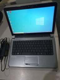 Notebook i3 / 4 GB / 320 GB HD / Bateria 1:40 hrs / Carregador