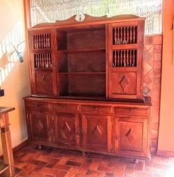Oratório | Estante Rústica - Madeira Sucupira