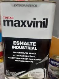 Queima de estoque  - esmalte sintético cinza escuro 18L maxvinil na Cuiabá tintas