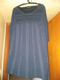 Vestido Bata Azul G