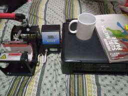 Prensa de caneca e impressora Epson sublimática