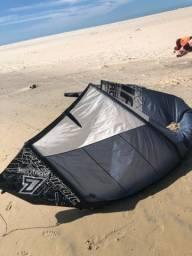 Kite flexifoil 7M 2012 com barra s/ reparo tecido bem conservado